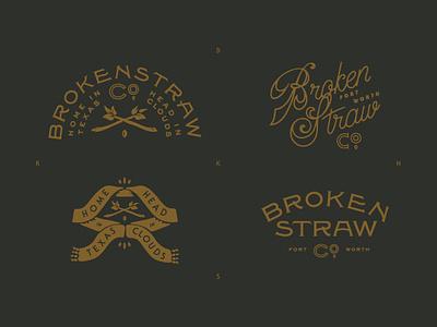 Brokenstraw Brand Elements business banner alaska ephemera letterhead system typography logo brand plant brokenstraw solotype seed badge vintage logo crest vintage 1890s appleseed