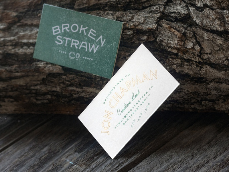 Brokenstraw Card photography bark wood vintage solotype serif gothic business business card design business card