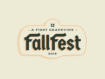 Fall Festival orange german fall colors badge typography blackletter fall festival