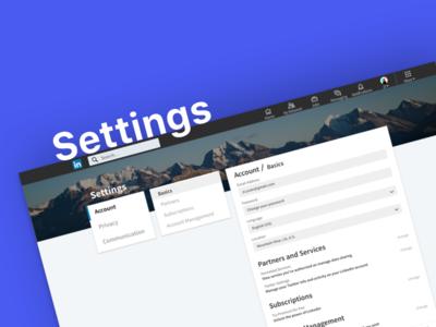 Linkedin Setting Page Concept Design
