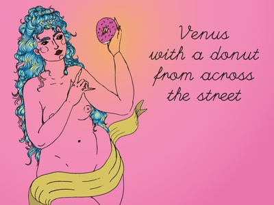 Venus with a donut from across the street
