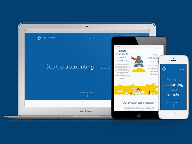 Ninja Accountant accounting accountant ninja responsive