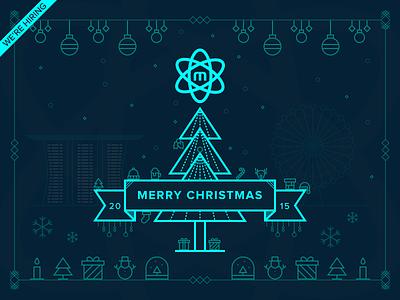 Merry Christmas 2015 nucleoapp greeting neon hiring line icon holiday merry christmas singapore 2015 xmas
