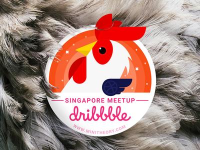 SG Dribbble Meetup 28 Feb 2017  chicken rooster dribbble meetup design dribbblesg singapore