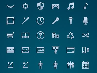 Icon Set Preview icon set paypal mastercard visa atm credit card paywave