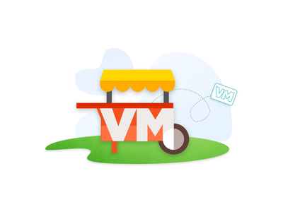 VM Cart for Send Page sketch illustrator software design vendor cart logo illustration