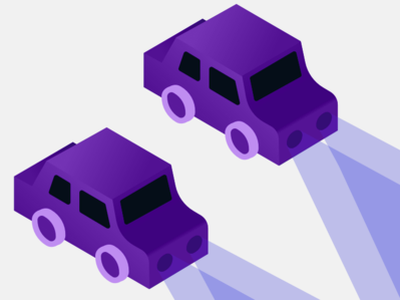 Isometric Cars for NJ MVC car sketch isometric purple illustration