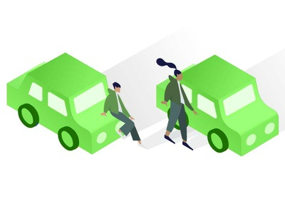 Isometric Cars for NJ MVC 2 isometric car green ux illustrator illustration