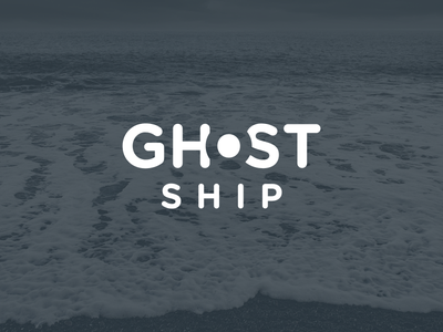 Ghost Ship Logo logo simple ghost ship ghost hoarrd negative space