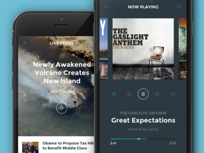 Ghost Ship UI mobile ui kit hoarrd ghost ship clean simple interface psd music player comment news