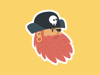 Hoarrd Sticker arr pirate sticker captain yellow hoarrd