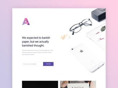 WIP UI Kit ui kit gradient purple pink white clean landing page homepage