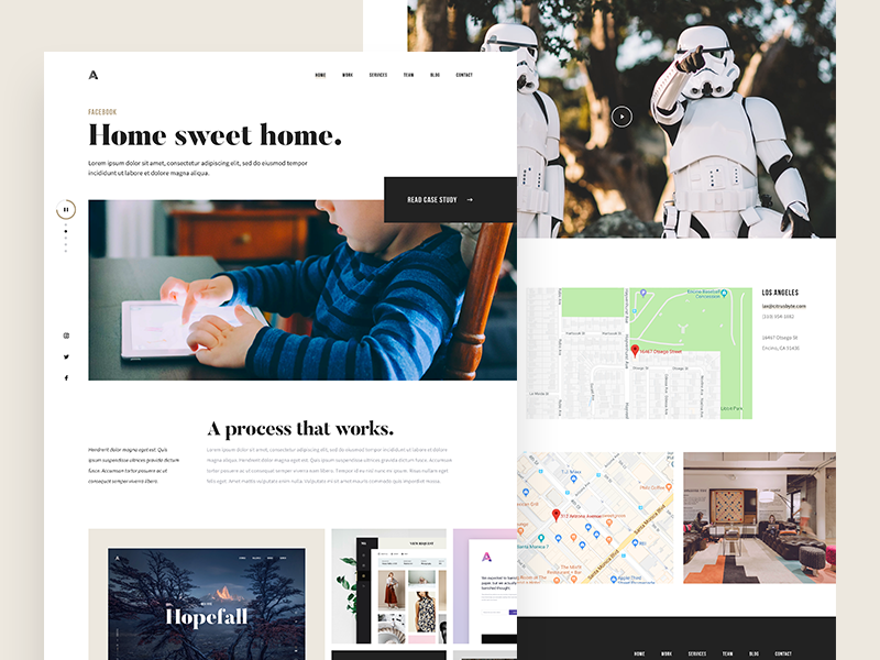 Agency website minimalism typography ui kit white clean simple portfolio agency