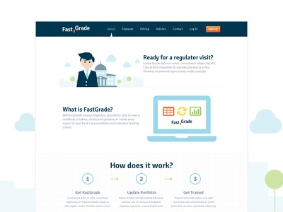 FastGrade About Page fastgrade about bank colorful illustration white clean blue finance