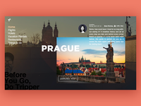 travel web landing page - Tripper, Prague