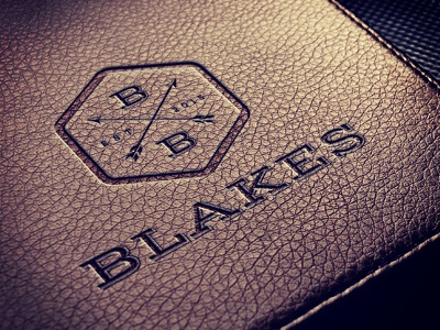 Blakes Barbers Brand Identity hipster retro hairdressers gents barbers design logo
