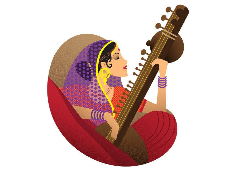 Indian Classical Music By Rahul Sharma Dribbble Dribbble