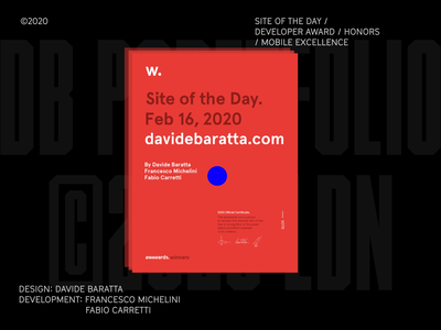 Folio 2020 on Awwwards cursor drag video loop dev animation interaction webdevelopment site of the day sotd award awwwards typography webdesign
