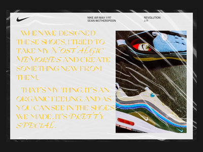 Nike Wotherspoon Editorial layout sneakers editorial branding design webdesign typography