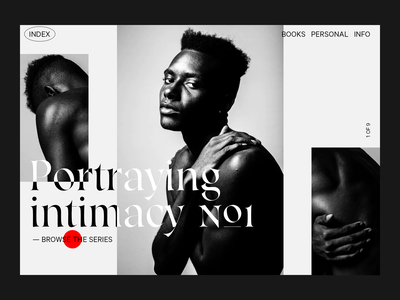 Portraying Intimacy photography website cursor design webdesign typography