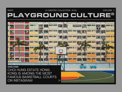 Playground Culture ui branding layout photography type typography webdesign