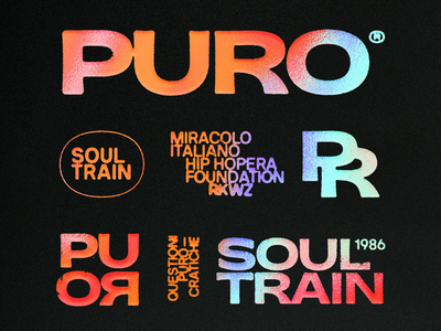 PURO branding holographic holo cd cover cover art cd sleeve cd logo logo pack logotype monogram typography branding