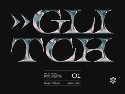 GLITCH chrome typography chrometype chrome lettering type website web design webdesign branding typography