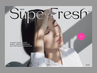 SuperFresh™ video japan tokyo shibuya branding photography logo sketch fashion minimalist minimalism photography layout website web design webdesign typography