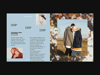Fashion Editorial photography grid website art direction artdirection split screen ui design web design splitscreen uidesign branding webdesign typogaphy