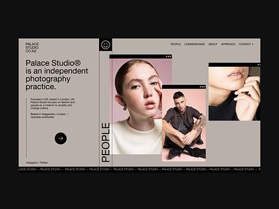 Palace Studio ui portfolio site portfolio photography horizontal scrolling website web design webdesign typography