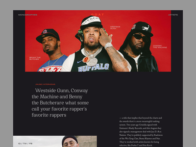 G.O.A.T 🐐 rap hip hop music griselda records griselda editorial website webdesign typography web design