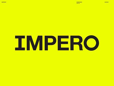 Impero Rebrand design agency london branding agency identity branding identity animation logo animation crown logo crown guidelines type yellow colors typography branding