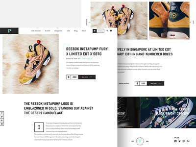 Sneaker Politics - article blog branding adidas nike vans atmos reebok sneakers typography redesign website webdesign
