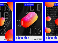 Liquid posters