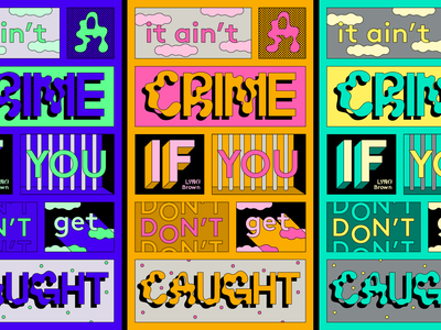 Typostories - Vol 25 crime grid letters type lettering illustration typography vector