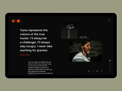 Beats X Undefeated grid layout grid headphones product landing page music mockup typography web design