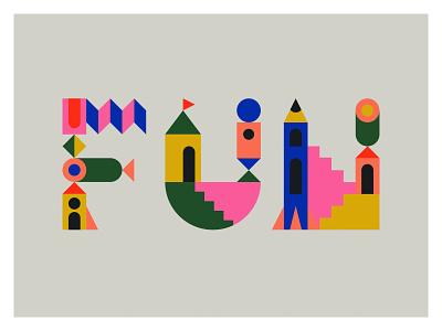 FUN weeklywarmup warmup dribbbleweeklywarmup letters type lettering illustration typography vector