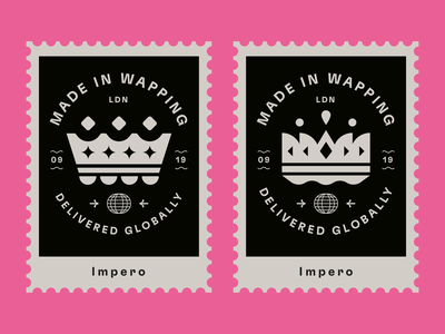 Impero stamps weekly warm-up warm-up impero crowns badge stamp branding mark icon letters type lettering illustration typography vector