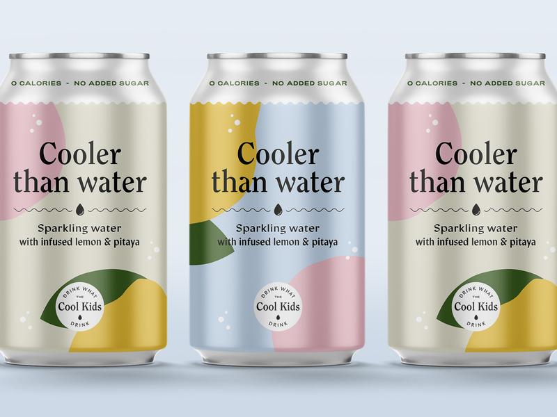 Cooler than water pitaja lemonly typography art type water craft minimal typography weekly warm-up can design branding