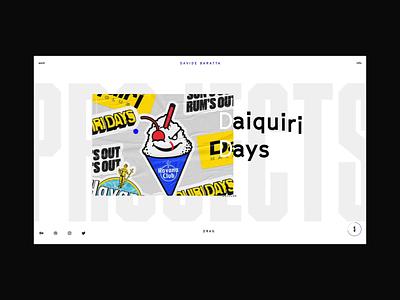 NEW FOLIO awwwards video hover navigation drag scroll typography mobile webdesign design