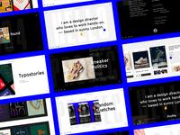 Portfolio - desktop pages