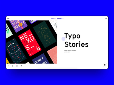 Portfolio - project page video typography preloader carousel drag scroll interaction animation folio portfolio design webdesign