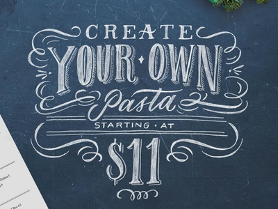 Romano's Macaroni Grill lettering hand lettering calligraphy chalkboard