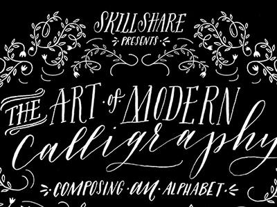 Skill Share Poster calligraphy skillshare online workshop illustration