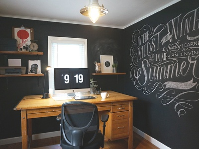 My Workspace illustration chalkboard lettering workspace calligraphy hand lettering