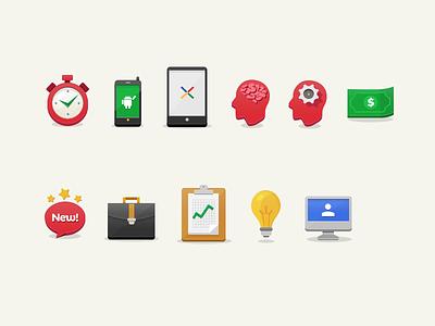 Icons Set icons flat