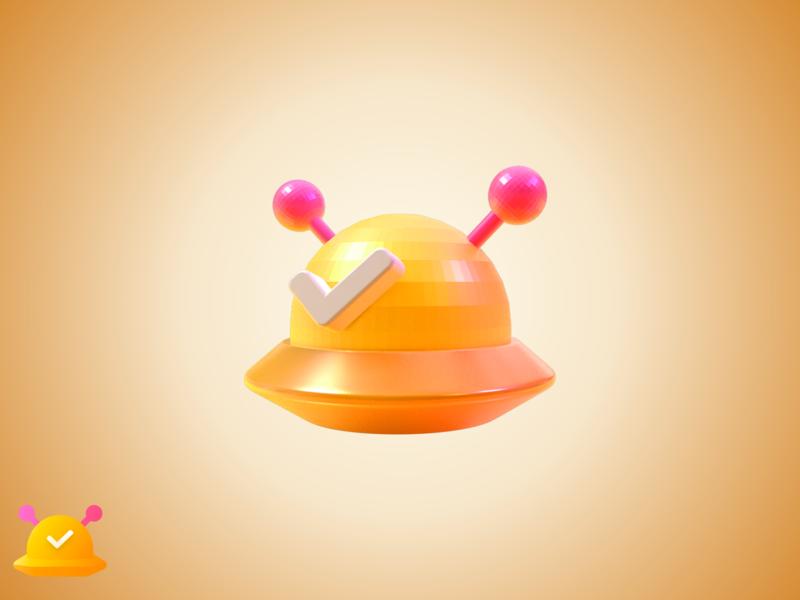 ufo 3D icon brand 3d ufo ui icon
