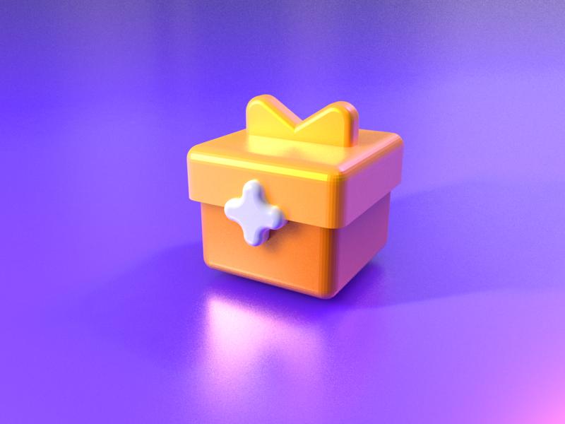 My 3D icon design emoji ufo rocket comment gift game design brand c4d icon 3d art