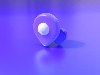 address & update 3Dicon arrow white purple update adress branding c4d 3d icon design