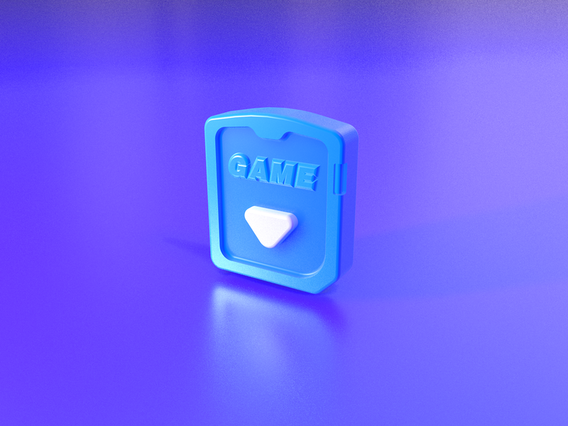 game-card & wallet 3D icon white arrow card game wallet blue ui design brand icon 3d ui c4d 设计